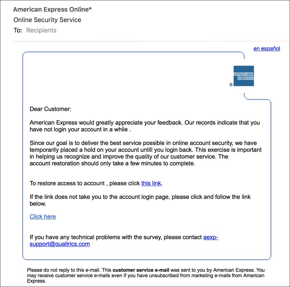 bogus fake phishing amex american express email