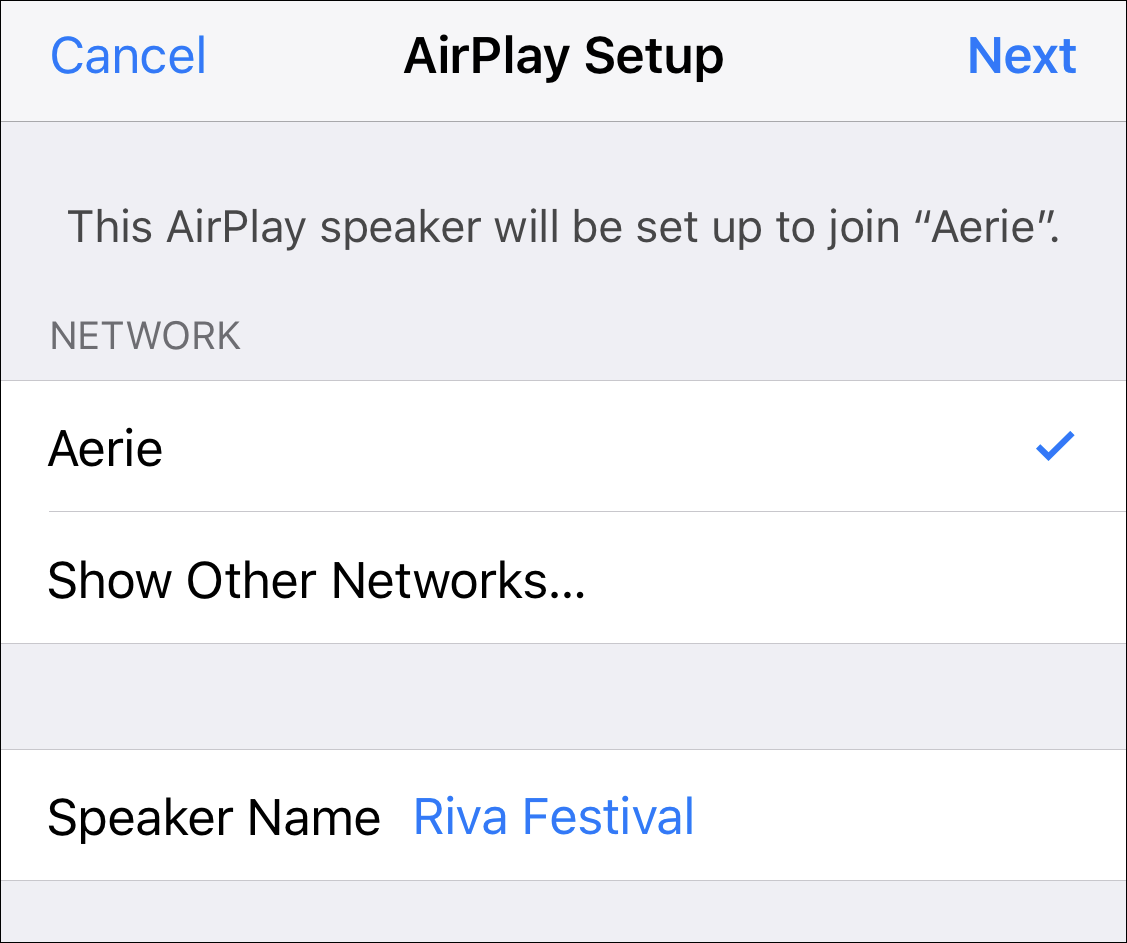 airplay speaker with new name