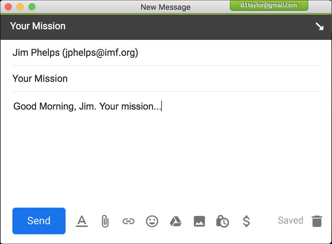 email to mission impossible