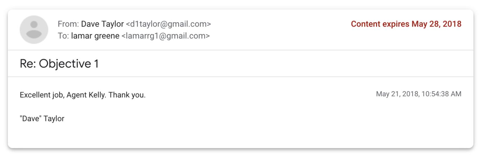 content expires gmail