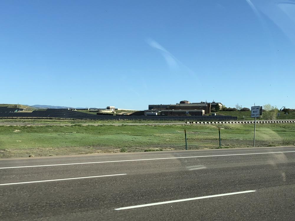 solar farm, gunbarrel, colorado, photo with iphone
