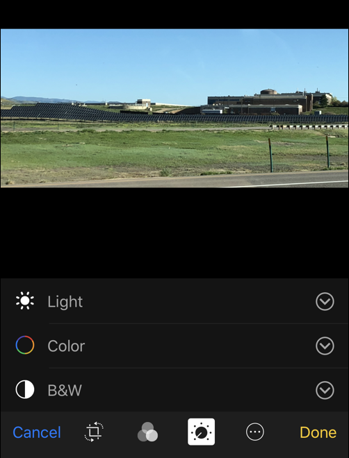photo adjustments - ios iphone photos