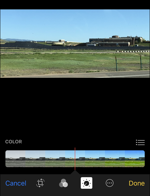 photos color adjust