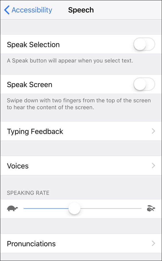 iphone ios speech voiceover