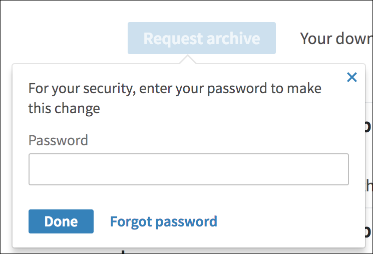 confirm linkedin download - password