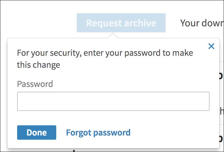 confirm linkedin download - password