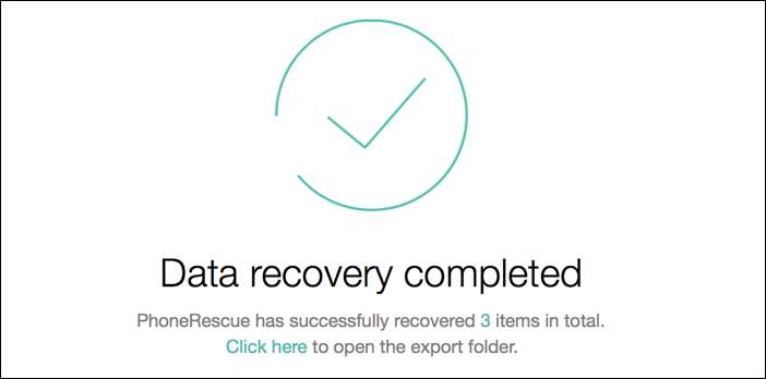 phonerescue data recovery complete
