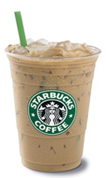 iced latte - starbucks logo