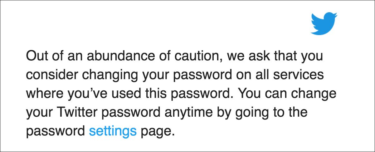twitter change your password