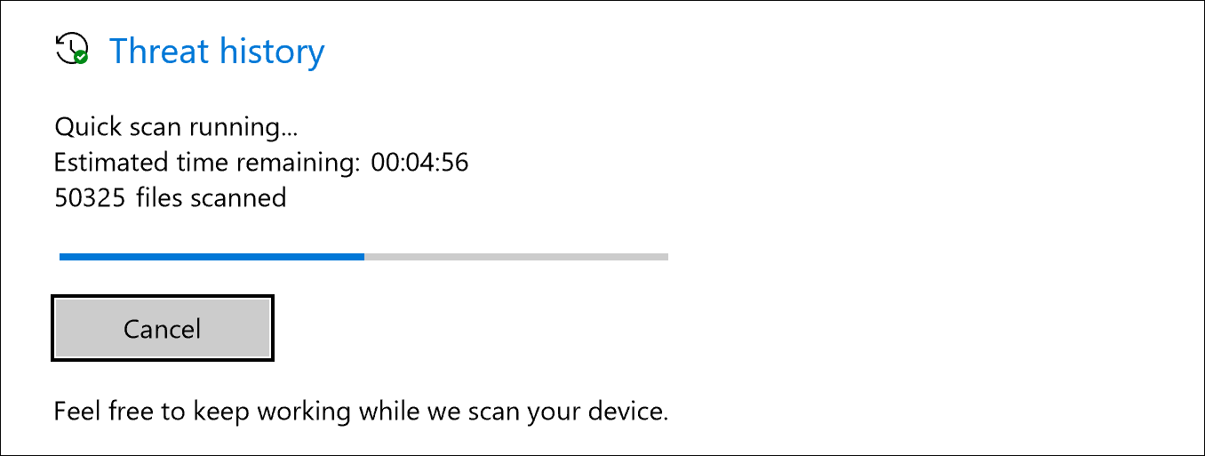 scan for viruses malware windows 10 defender