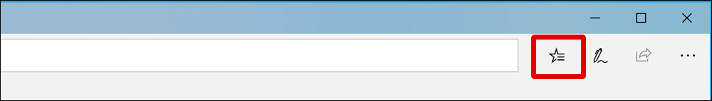 microsoft edge top navbar toolbar