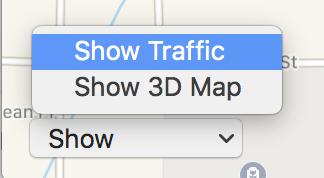 apple maps - show traffic