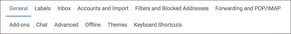 gmail main settings