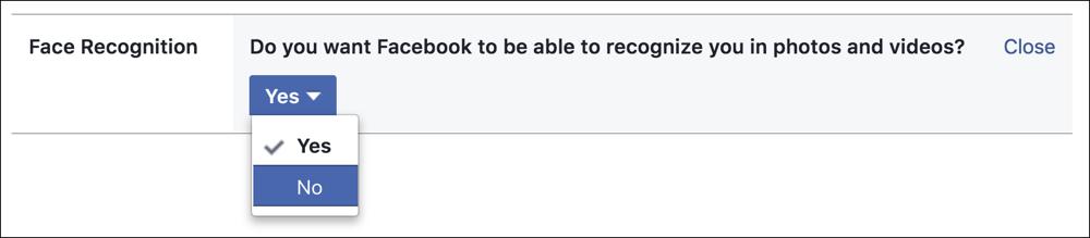 change facebook facial recognition