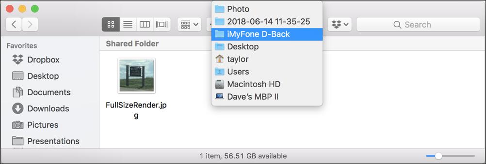restored photo in mac finder