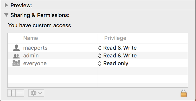 mac get info permissions unlock