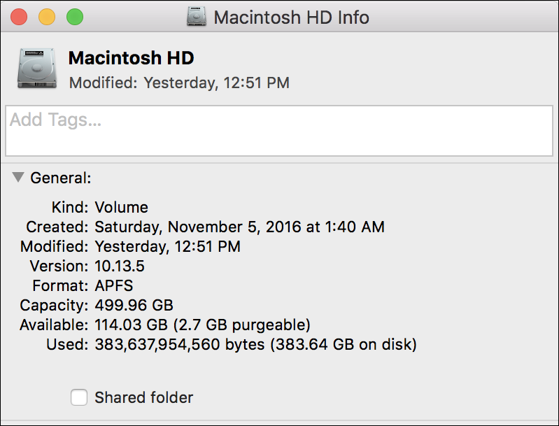 available space, mac hard drive disk