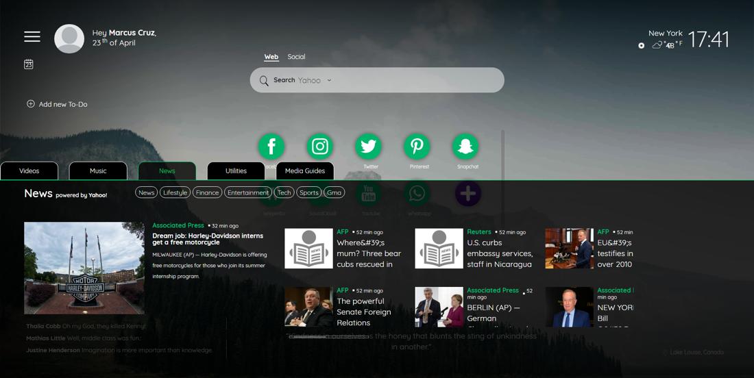 tabitab demo screen window