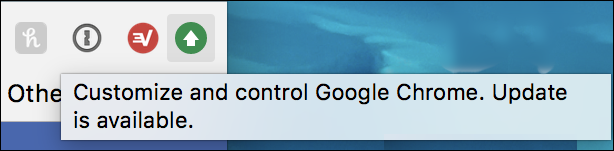 google chrome update available icon