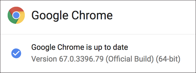 google chrome up to date