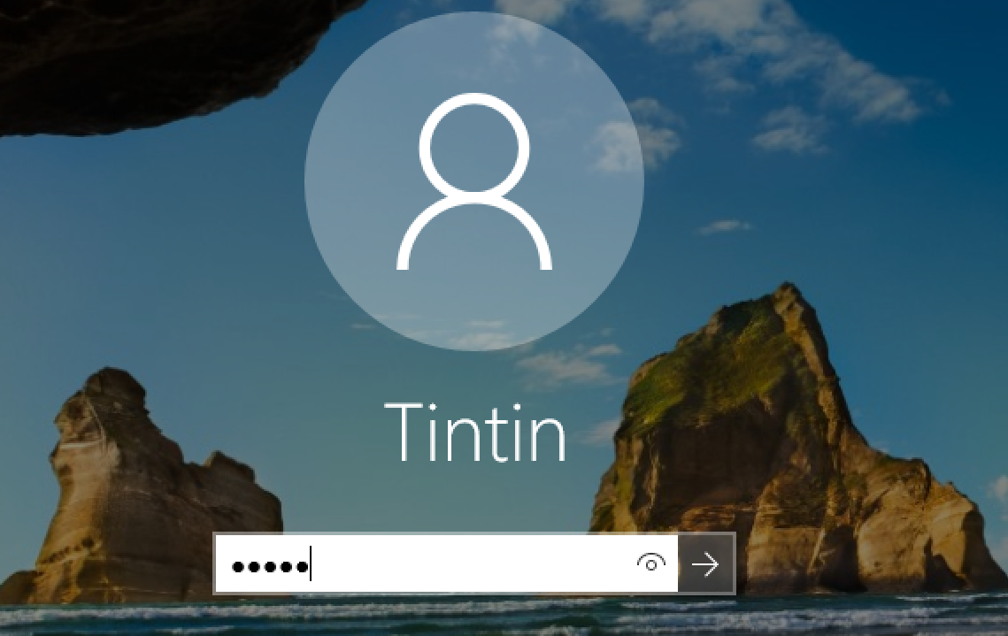 login to Tintin account, windows 10