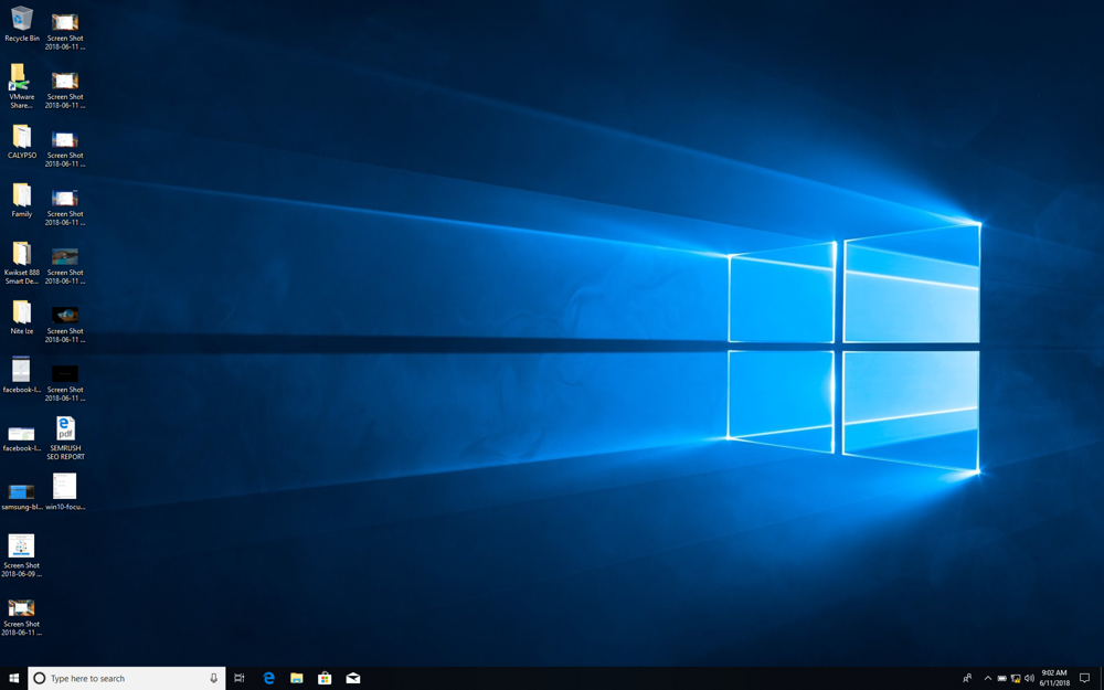 win10 new account desktop