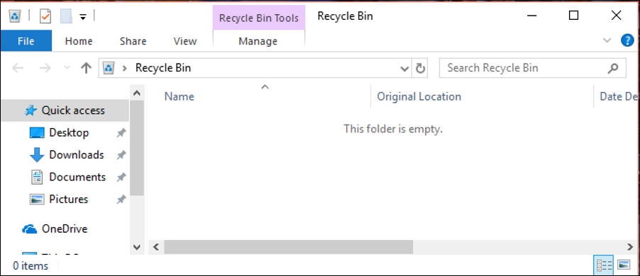 windows 10 empty trash