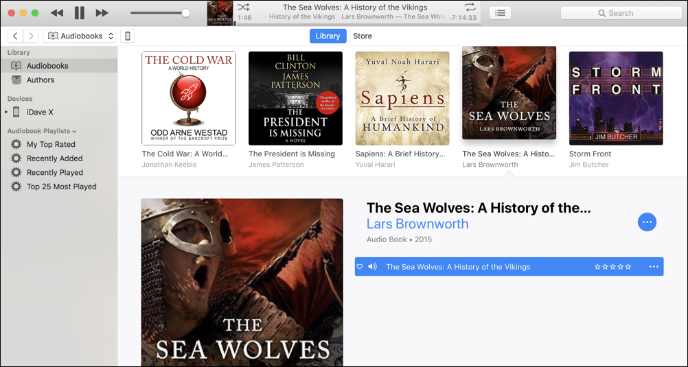 new mp3 audiobook added and categorized apple itunes mac