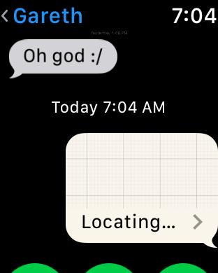 apple watch share send location locating