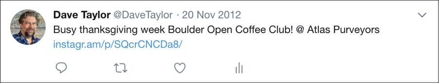 tweet from 2011