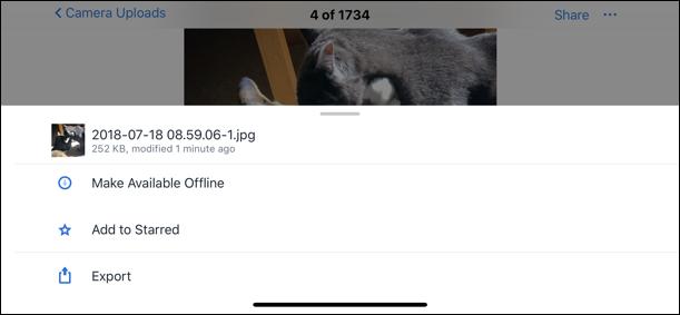 dropbox options menu iphone x 8