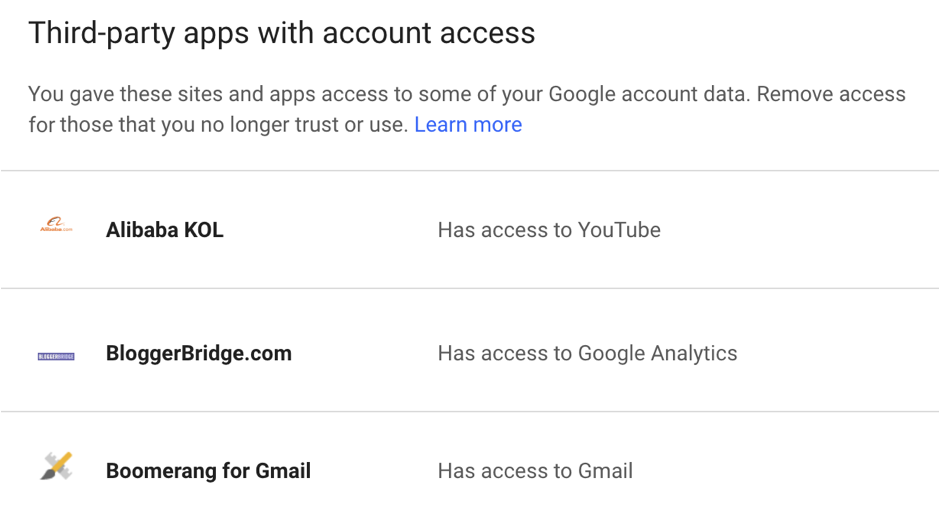 third party apps with access to my gmail