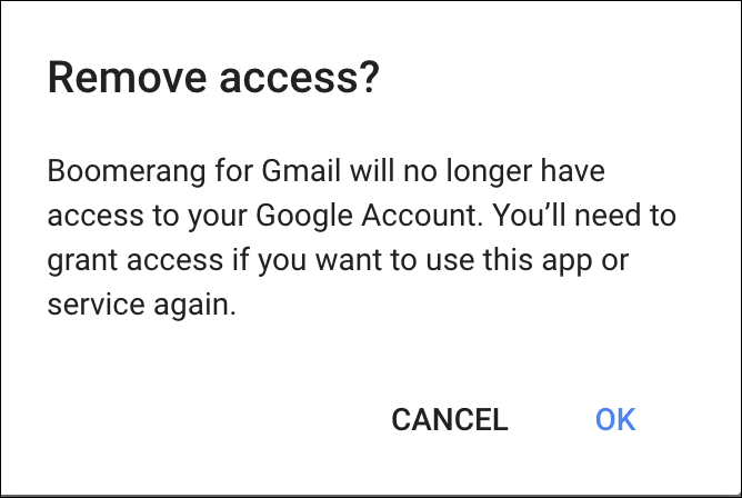 remove access to gmail email?