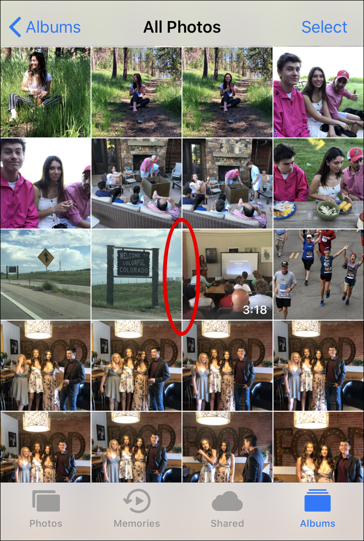 hidden photo, camera roll, ipad