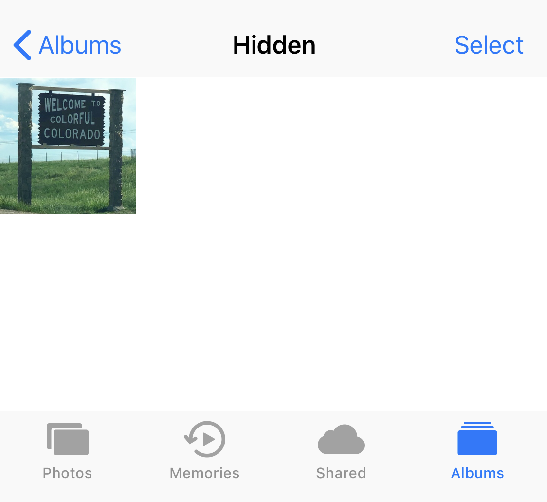 hidden photo album iphone