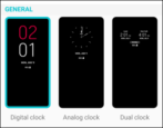 enable always-on display android lg phone clock