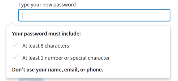 password tips from linkedin