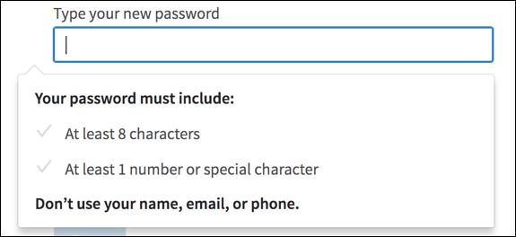 password tips from linkedin