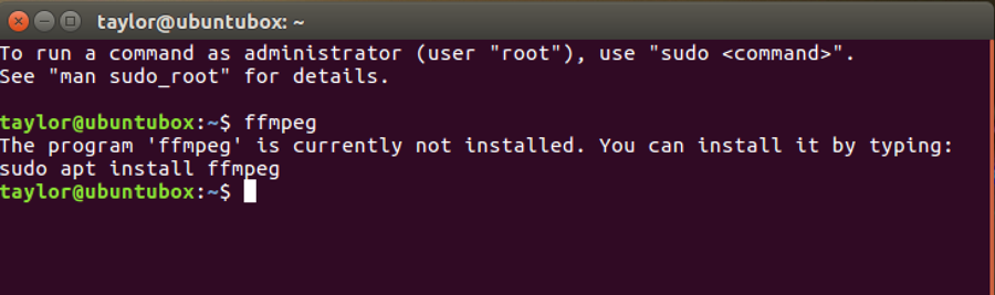 ubuntu linux - ffmpeg needs to be installed