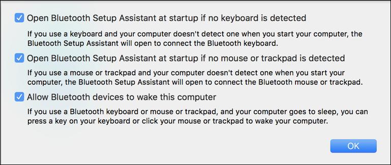 mac macos x bluetooth advanced settings preferences