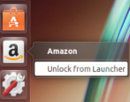 unlock amazon app from ubuntu linux launcher bar