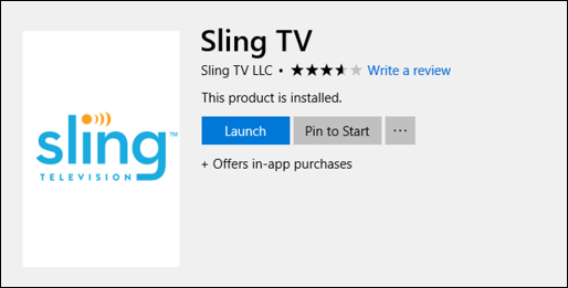 download install sling tv windows win10