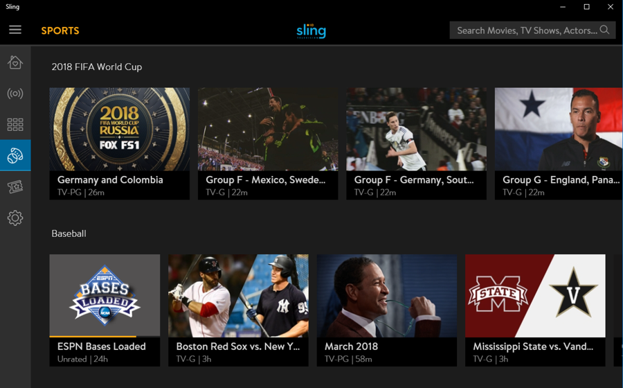 fifa world cup on sling tv