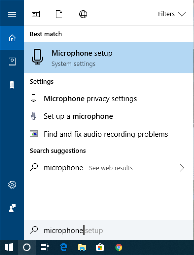 win10 cortana search: microphone