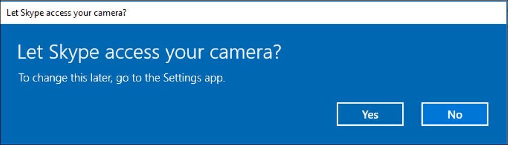 let skype access camera?