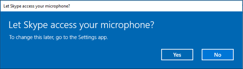 let skype access microphone?