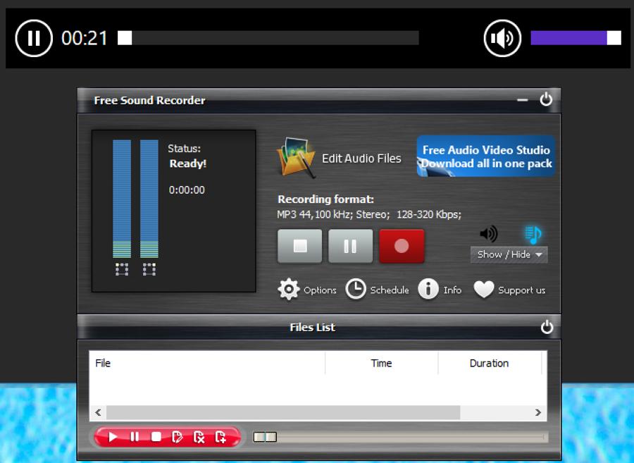 win10 free sound recorder - monitoring audio