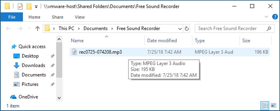 file explorer mp3 audio output files