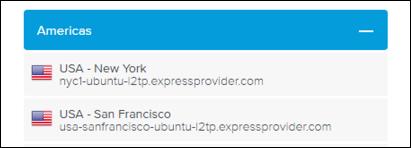 list of expressvpn servers by hostname
