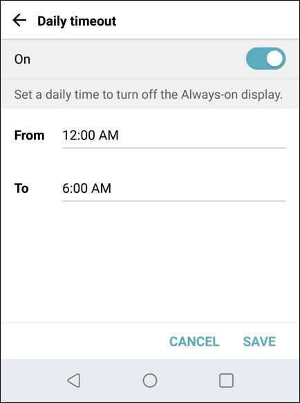 android aod always on display sleep timeout